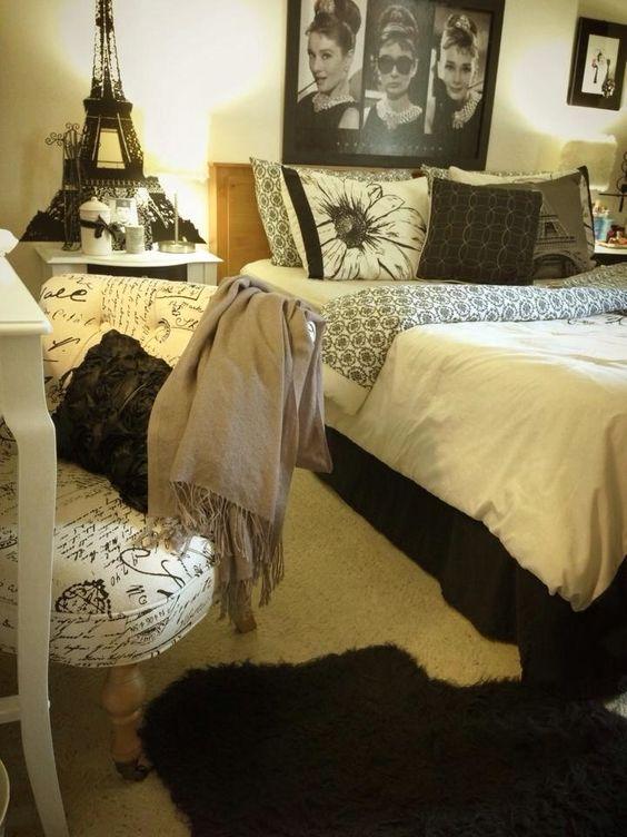 audrey hepburn parisian room inspired bedroom audrey