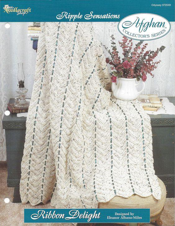 Crochet Chevron Ripple Afghan Pattern Home by KnitKnacksCreations