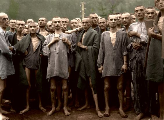 Jews in Concentration Camp in Colour