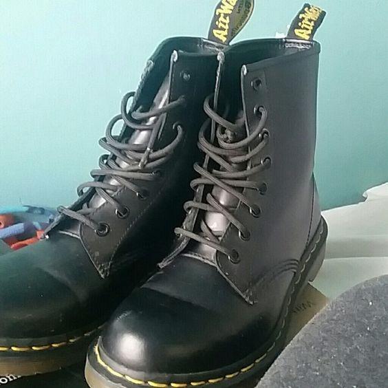 Boots Black dr.martens with bouncing soles Dr. Martens Shoes Combat & Moto Boots