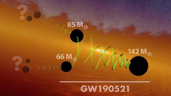 Detectan el agujero negro más masivo observado a través de ondas gravitacionales