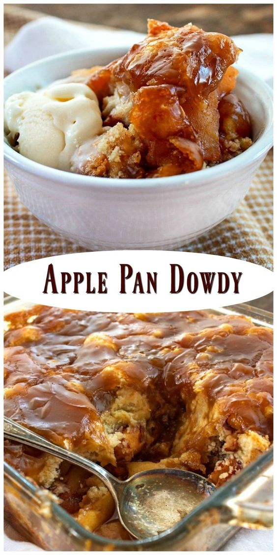 Apple Pan Dowdy - one of the best apple desserts I've ever made.You would be…
