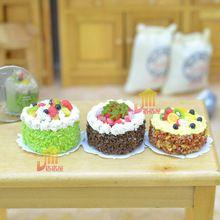 G05-X406 kinder baby geschenk Spielzeug 1:12 Puppenhaus mini Möbel Miniatur rement schöne kuchen 1 stücke(China (Mainland))