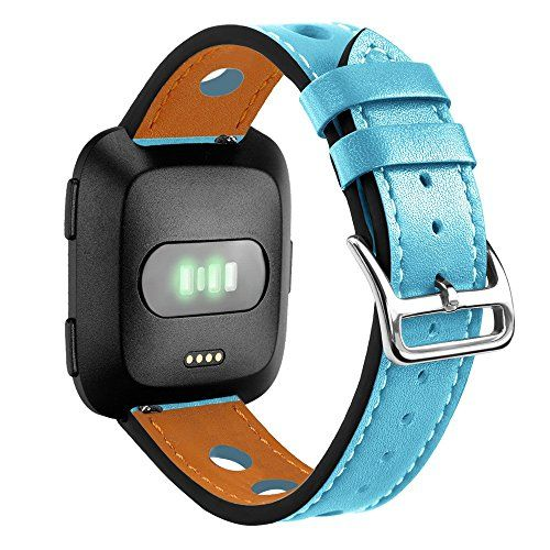 For Fitbit Versa Luxury Leather Band DIY Replacement Accessories Wristband Strap