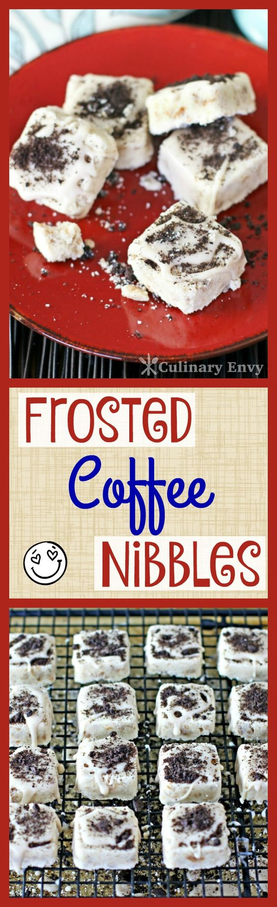 Frosted Coffee Nibbles are the perfect melt-in-your-mouth coffee and cream cookies that are PACKED with flavor! An after dinner dessert all adults will love.