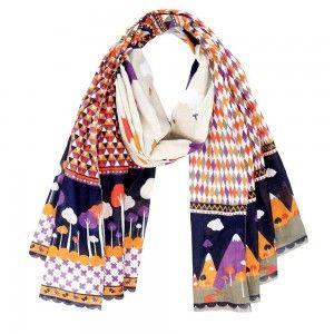 Foulard de algodón hecho a mano diseñado por Melle Héloïse para La Marelle