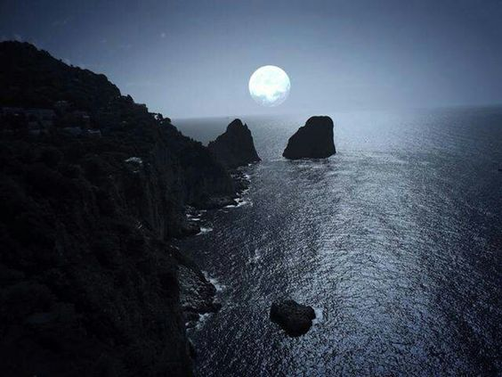 Image result for image of capri italy by moonlight