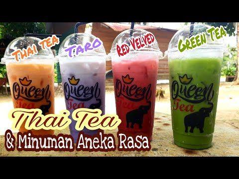 Cara Membuat Thai Tea Green Tea Taro Red Velvet Minuman Kekinian Youtube Teh Hijau Ide Makanan Minuman