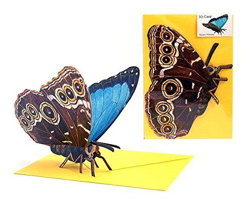 "Pop-Up-Karten Tiere / 3 D-Faltkarte Schmetterling: ""TROPISCHER MORPHO-FALTER"" Edition Colibri http://www.amazon.de/dp/B00LMYTE14/ref=cm_sw_r_pi_dp_aU-avb1BQJEV7"