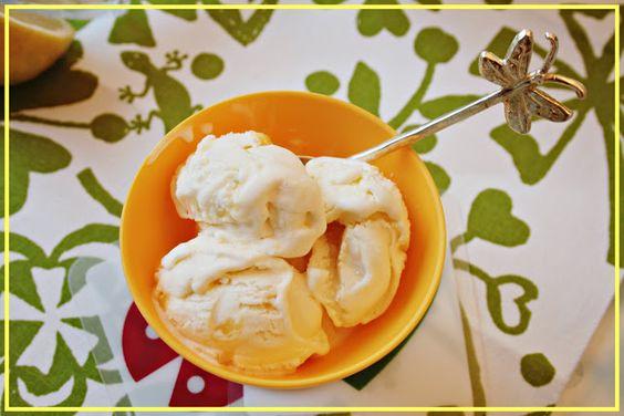 Lola na cozinha: ricota sorvete para Limoncello com coalhada de limão