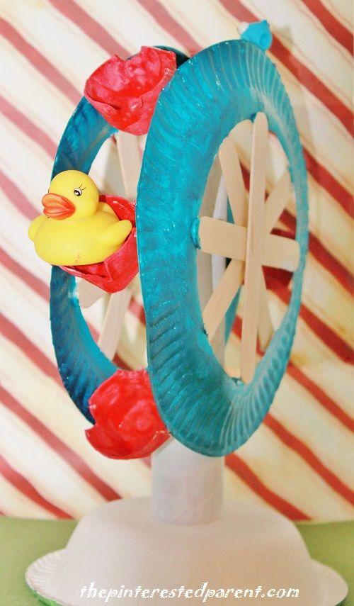 Paper plate Ferris wheel roue manège fête foraine