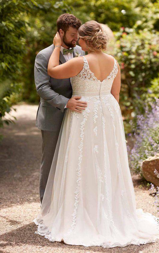 Plus Size Beach A Line Wedding Dress With Floral Lace Wedding Dresses Wedding Dresses Hippie A Line Wedding Dress,Princess Wedding Dresses Plus Size