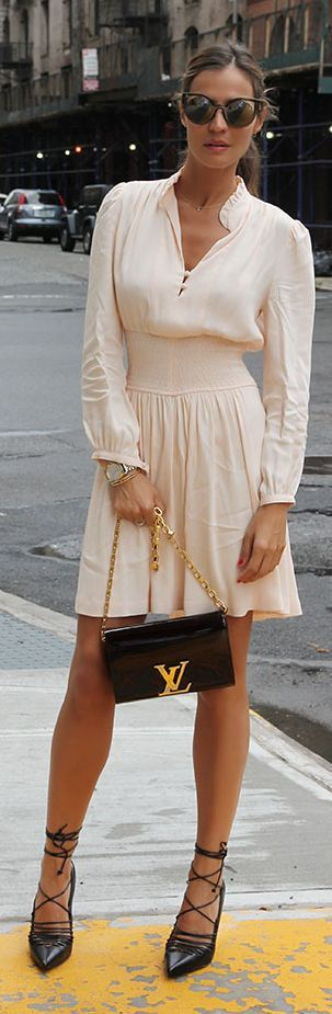 Nude Little Dress N Y F W Party Fall Inspo by LadyAddict