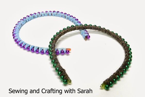 Sewing and Crafting with Sarah - Ribbon Wrapped Beaded Headbands