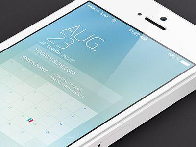 Schedule app design