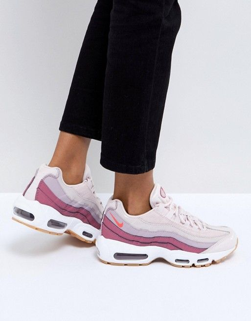 Details about Womens NIKE AIR MAX 95 PRM Light Pumice Trainers 807443 013