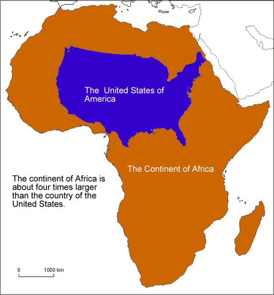 Image result for africa size comparison