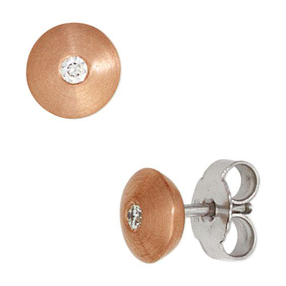 Ohrstecker 585 Gold Rotgold Weißgold 2 Diamanten Brillanten Ohrringe A32137 http://www.ebay.de/itm/Ohrstecker-585-Gold-Rotgold-Weissgold-2-Diamanten-Brillanten-Ohrringe-A32137-/151808521690?ssPageName=STRK:MESE:IT