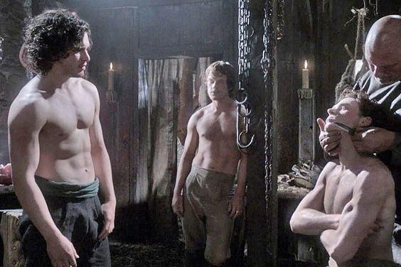 John Snow, Theon Greyjoy, and Robb Stark? Yes please! Game of Thrones <3