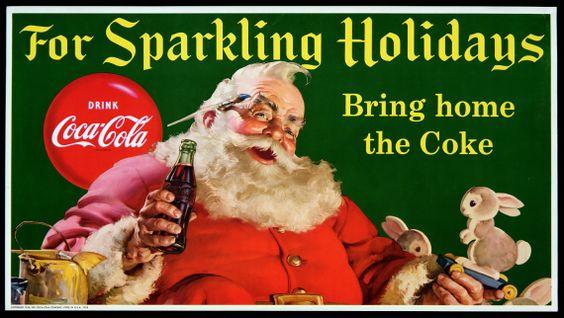 kerstsman Santa Claus gepromoot door Coca Cola