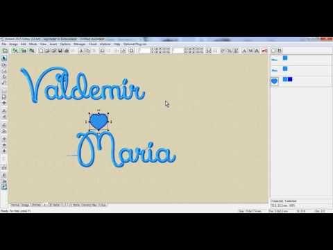 Como Fazer Montagens Usando As Fontes De Letras Do Programa Embird