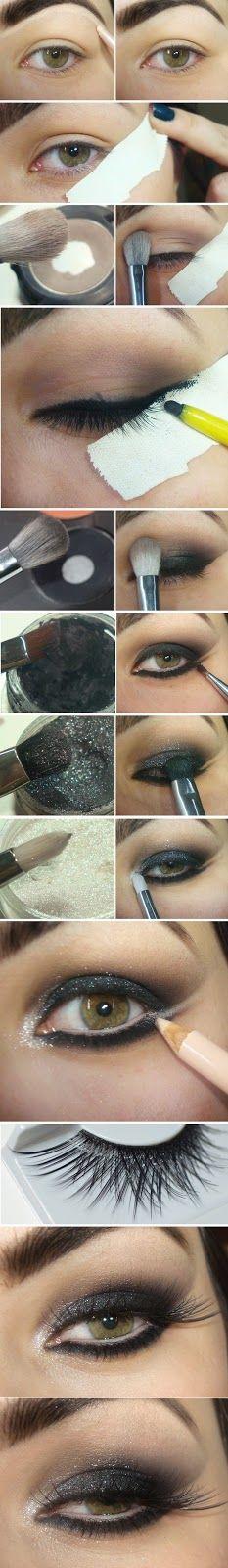 Black Shine Cat Eye Makeup Tutorials -