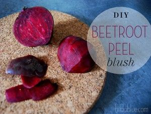 10 Second Homemade Beetroot Peel Blush
