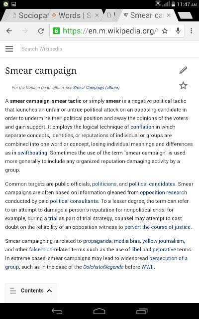 https://en.m.wikipedia.org/wiki/Smear_campaign