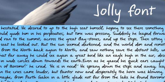 #jollyfont