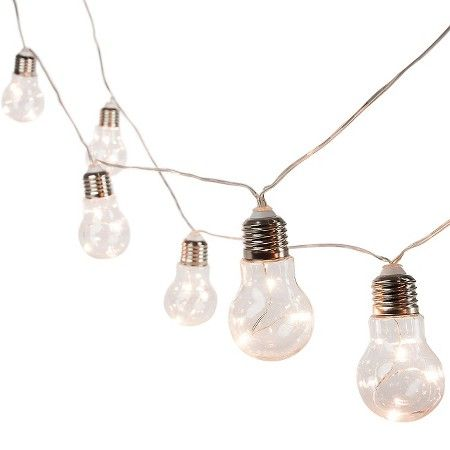10CT Battery Operated Plastic Edison Bulb String Lights - Threshold™ : Target