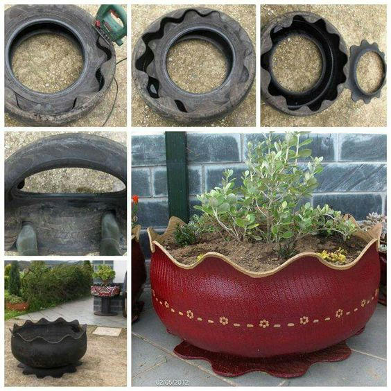 Old tires recycled                                                       …