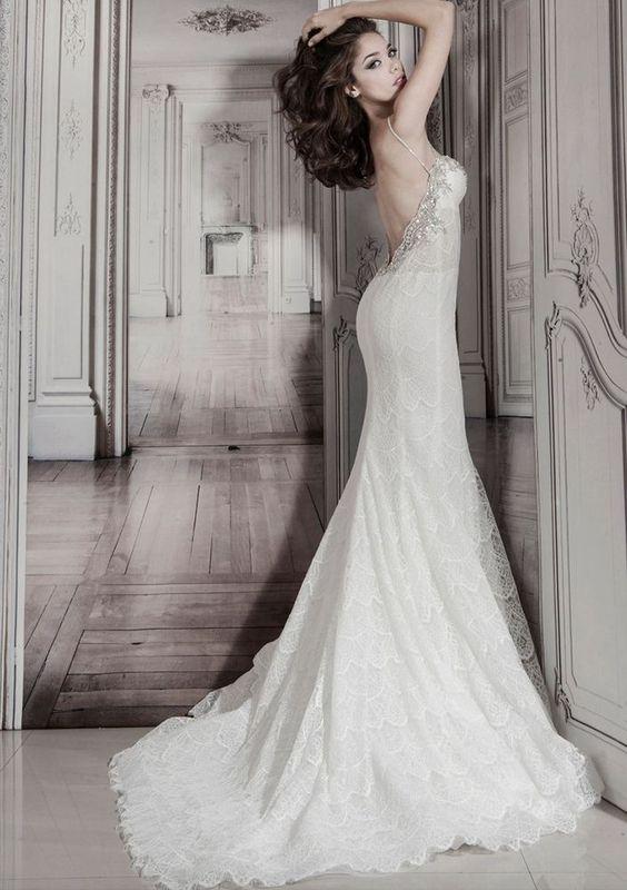 Pnina tornai lace mermaid gown kleinfeld wedding dress