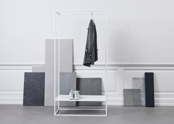 Sculptural Minimalism features geometric coat stands by Kristina Dam