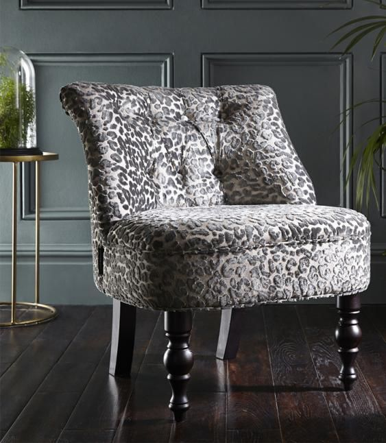 Odette Leopold Pewter Designer Accent Chairs Chair Statement Chairs