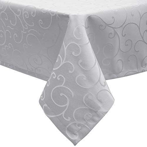Eugad 0145zb Nappe Damasse Tissu De Table Ornements Design Dessus De Table Impermeable Avec Ourlet Rectangulaire 130x160 C En 2020 Dessus De Table Nappe De Table Nappe