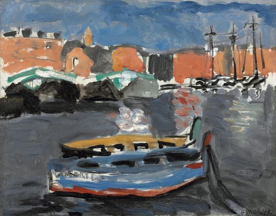 "lawrenceleemagnuson: ""Henri Matisse (1869-1954) Port de Marseille (1917) oil on cradled panel 27.3 x 35 cm """