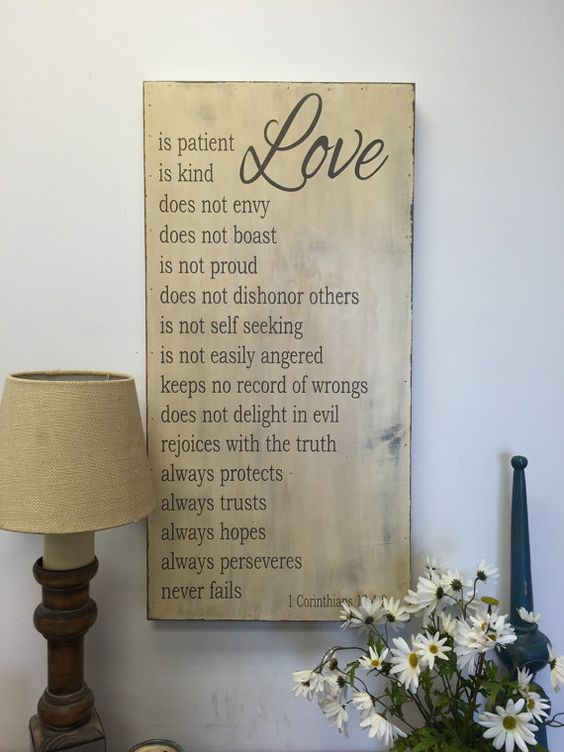 18x36 wood sign - It is all wood on front and sides. It is open in the back and hangs from the wood frame.  This is painted a cream distressed background with dark gray letters. We can do other colors.  It has a coat of poly on it to protect it for years to come. What a great wedding gift or a nice sign to display at your wedding. Would love to do other sayings, just convo me to design your own thanks for peeking in our shop.  ~~~~~~~~~~~~~~~~~~~~~~~~~~~~~~~~~~~~~~~~ All designs and photos…