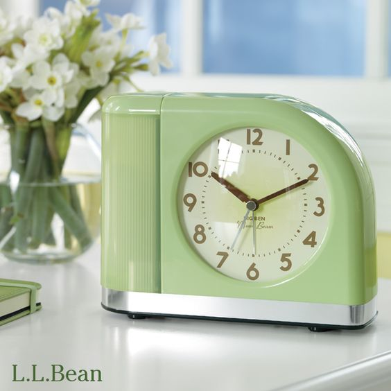 llbean moon beam alarm clock will have you looking forward to spring bedrooms by l l bean. Black Bedroom Furniture Sets. Home Design Ideas