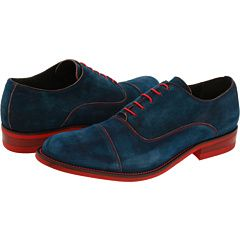 Blue suede shoes for the groom