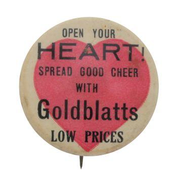 Goldblatts Open Your Heart I heart Button Museum