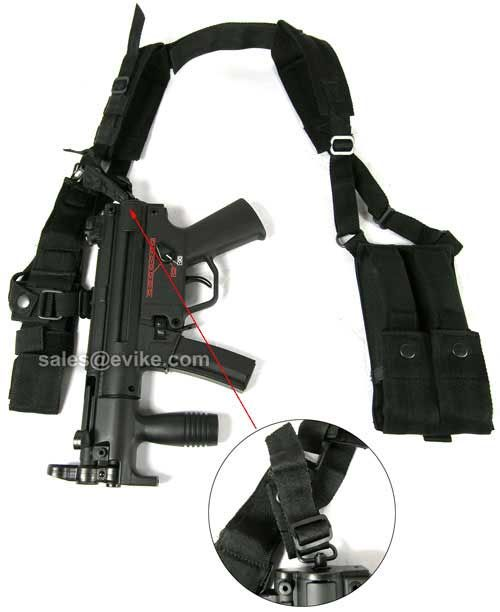 Evike.com Airsoft Guns - Tac. Gear/Apparel | Evike.com Airsoft Guns - Chest Rigs & Harnesses | Evike.com Airsoft Guns - Matrix Mil-Force MP5K Mac11 UZI Shoulder Harness w/ Magazine Pouches |