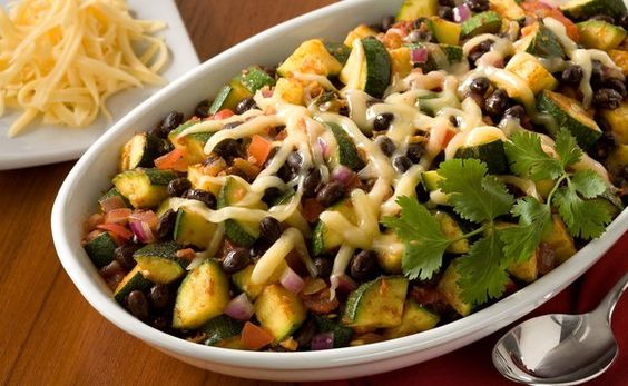 Zucchini and Black Beans With Chipotle Peppers in Recipes on The Food Channel®