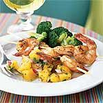 Shrimp Sate with Pineapple Salsa (Low Carb)