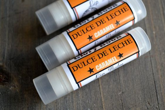Dulce de Leche Lip Balm, caramel, bath and beauty natural lip balm with coconut oil, paraben free, glory boon on Etsy, $3.99