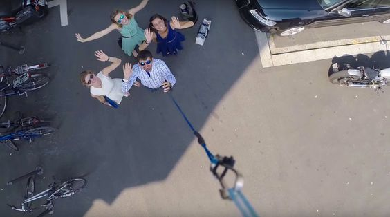 This Quadcopter Kite Takes The Selfie Stick To New Heights Kites - Wearable drone camera can take wrist snap epic selfies
