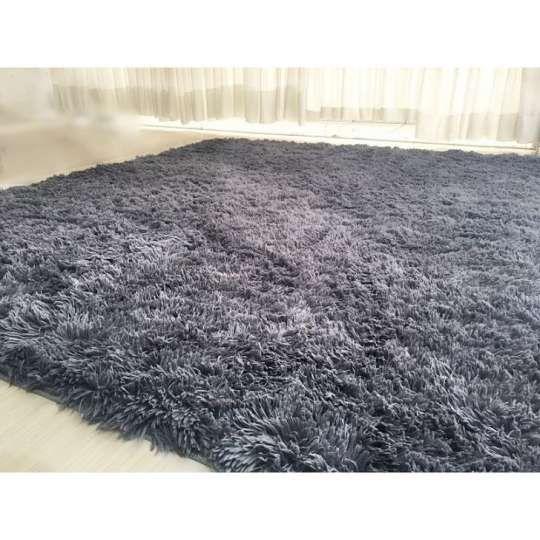 Tapete Shaggy Pelo Alto 200 x 240 cm - Cinza Tapetes Saturs: