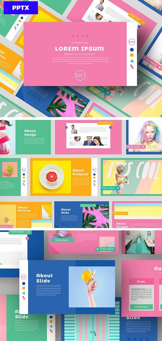 Color Fun Powerpoint Desain Powerpoint Desain Pamflet Ide