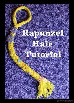 Tangled in Yellow Yarn: Rapunzel Hair Tutorial by Sarah at Things I Make (www.goer.org/sarah)