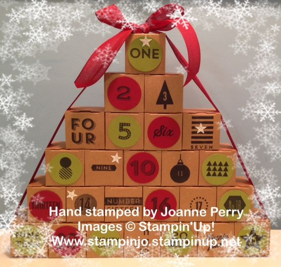 Not a card, but an Advent Calendar using the 25 days Photopolymer stamp set by Stampin'Up!   www.stampinjo.stampinup.net
