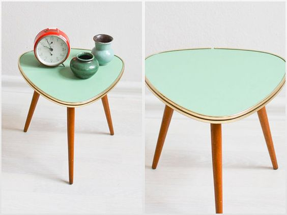 Hey, I found this really awesome Etsy listing at https://www.etsy.com/listing/264321604/vintage-tripod-mint-green-coffee-table